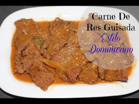 Carne de res guisada estilo Dominicano | Cocinando con Ros Emely