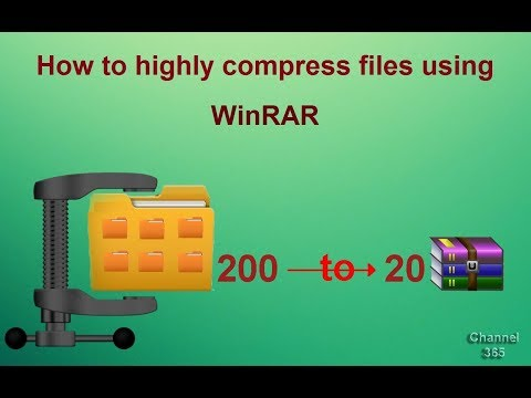 How to highly compress files using WinRAR - 200 MB to 20 MB - with proof