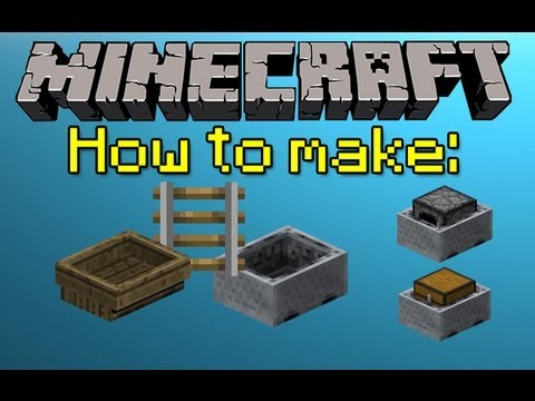 MINECRAFT HOW TO MAKE MINECART, BOAT, AND RAILS