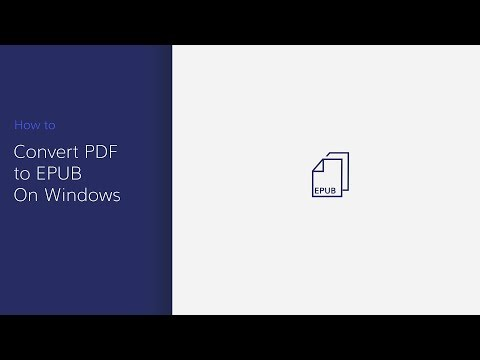 Convert (scanned) PDF to EPUB, eBooks, Kindle with PDFelement