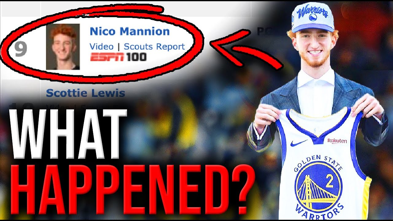 Why the Warriors KNOW Nico Mannion is the STEAL of the NBA Draft