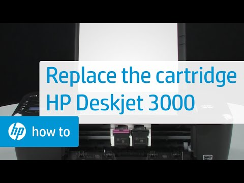 Replacing a Cartridge - HP Deskjet 3000 Printer