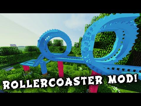 Minecraft Mods - ROLLERCOASTERS MOD! (Customize, Build, & Color!) - Updated Mod Showcase