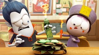 Funny Animated Cartoon | Spookiz World Record Hottest Sandwich Ever 스푸키즈 | Cartoon for Children