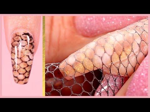 Snake Skin with Dip Powder   Nail Tutorial
