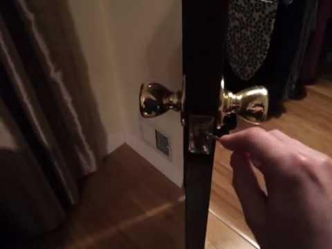 Stuck door knob fix DIY