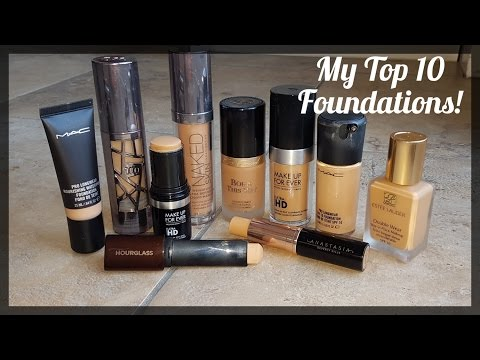 My Top 10 Foundations! Medium Tan Indian Pakistani Skintone