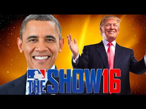 DONALD TRUMP VS BARACK OBAMA   INSIDE THE PARK HOME RUN CHALLENGE   MLB THE SHOW 16