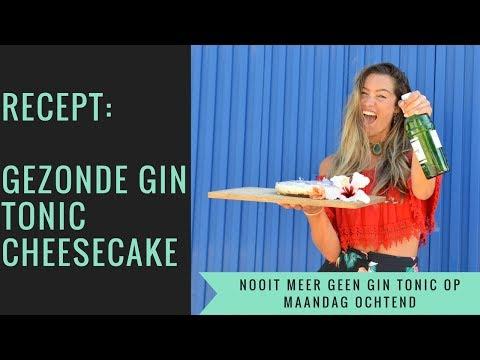 Gin Tonic cheesecake // een gezondere variant