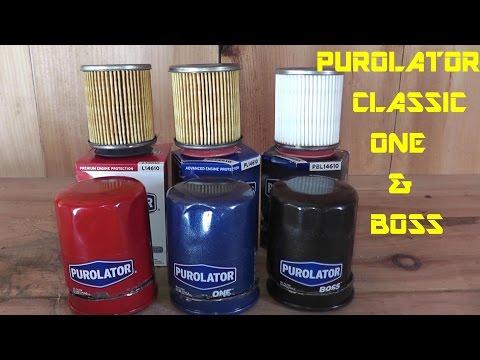 Purolator Classic - Purolator One - Purolator Boss Oil Filter Review