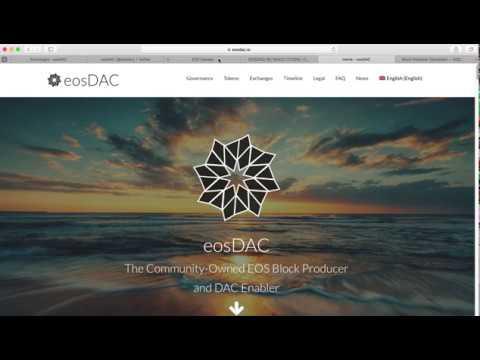 What is eosDAC ? | EOS mainnet Launches