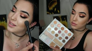 Glowing Makeup for OILY SKIN! + Carli Bybel Deluxe Palette Tutorial