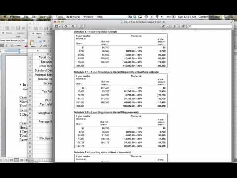 Marginal, Average, and Effective Tax Rates Problem Demonstration Video Part 1