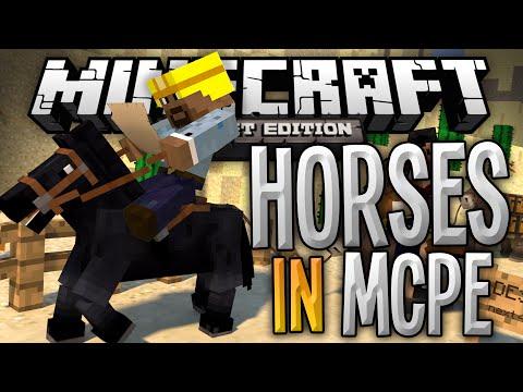 HORSES IN MINECRAFT POCKET EDITION!!! - The Horses Mod - Minecraft Pocket Edition