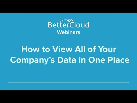 How to View All of Your Company's Data in One Place (Part 2)