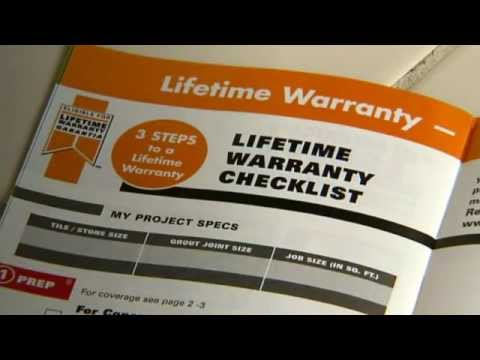 Custom Building Products Lifetime Warranty