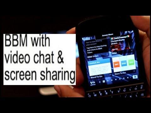BBM video Share Screen Feature (Demonstration on Z30 Q10)