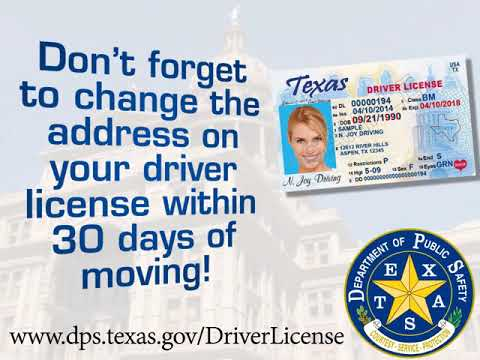 Texas Driver License Office - Address Change Requirement