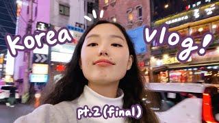 korea vlog pt. 2 : BUSAN (+ seoul again, more shopping, lotte world, seeing TXT)