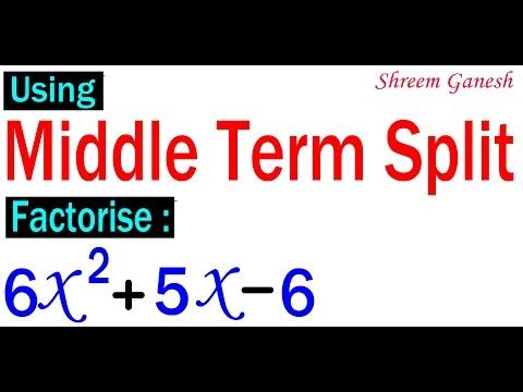 Algebra Quadratic Equations Factorisation Middle-Term-Split class 9 MATHEMATICS NCERT CBSE CCE