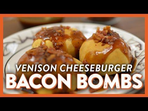 Venison Cheeseburger Bacon Bombs   Legendary Recipe