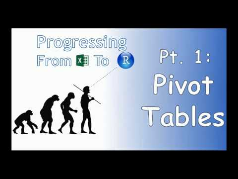 Progressing From Excel to R - Pivot Tables