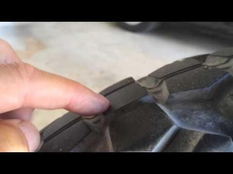 Honda CRF230L Tire Tread Wear Check
