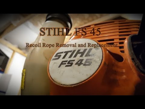 Stihl FS 45 Recoil Rope Replacement