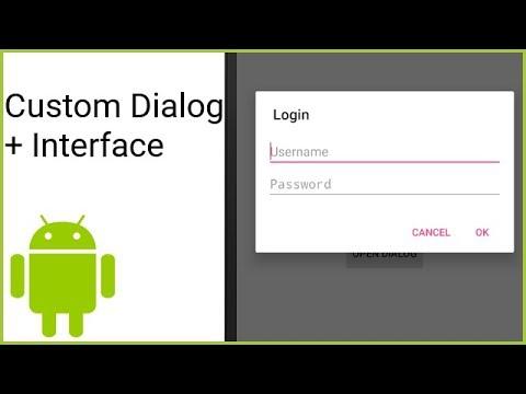 Custom Dialog + Sending Information to Activity - Android Studio Tutorial