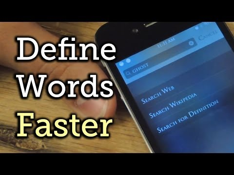 The Fastest Way to Look Up & Define Words in iOS 7 on Your iPhone [How-To]