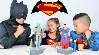 Batman Vs Superman Toys Dawn Of Justice Family children Superhero Fun Game With Ckn Toys