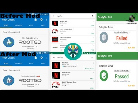 Hide root from Playstore, Netflix, Snapchat or other Apps (Safety net)