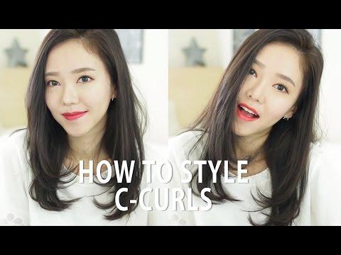 [한글자막] How I Style My Hair with C-Curls ♥ 헤어 스타일링 C컬!