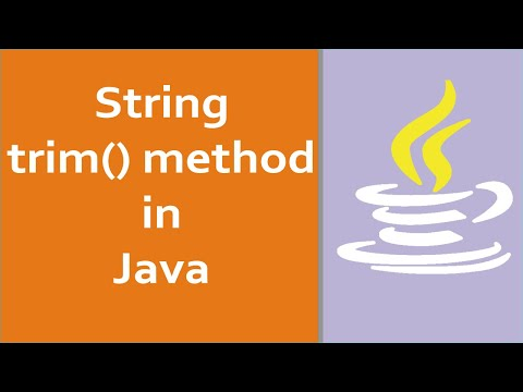 Java Tutorials for Beginners - How  to Use of trim() method with Strings