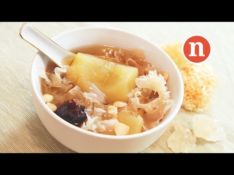 Apple and Snow Fungus Soup [Nyonya Cooking]
