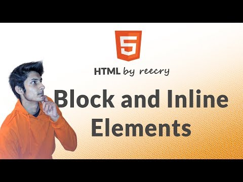 Block level and Inline Elements (div tag, header tag, span tag, aside tag) - Learn HTML in Hindi
