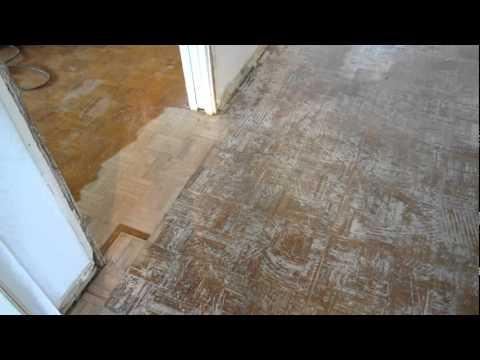 Refinishing Lew & Kim's Parquet Floor