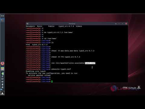 How to install Typo3 8.7.3 on MX Linux 17