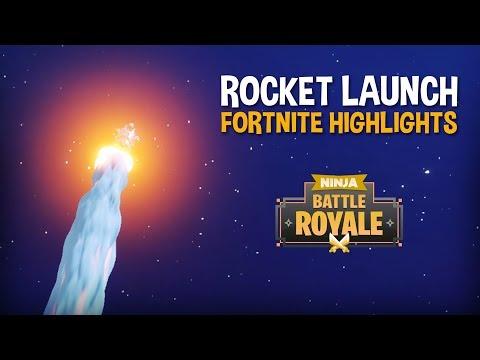 The Rocket Launch!!! - Fortnite Battle Royale Highlights - Ninja
