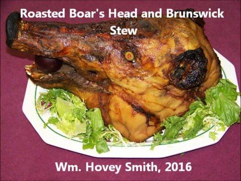 Roasted Boar's Head and Brunswick Stew