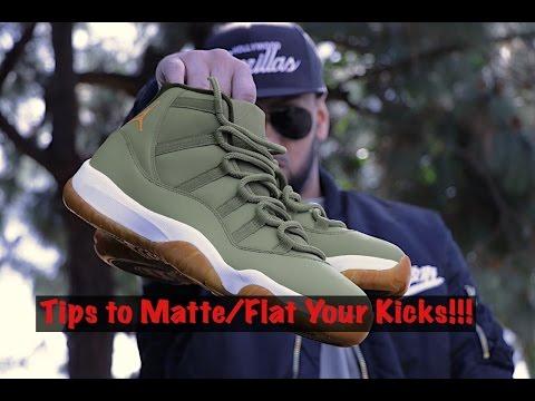 Tips to Matte/Flatten Out Your Kicks!!!