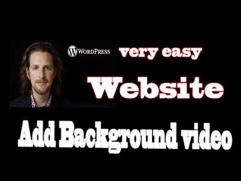 Add Background video In wordpress website