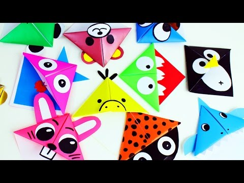 🎒🏫 Back to School: Origami Paper Corner Bookmarks