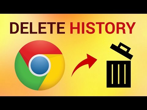 How to delete Google Chrome history