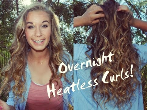 ❀ Perfect HEATLESS Overnight Curls!  ❀