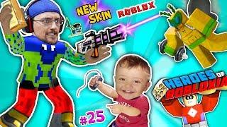 ROBLOX vs. BAD BABY SHAWN! FGTEEV SUPER HEROES of ROBLOXIA + GYM TYCOON + New Skin Pixel Gun Pt 25