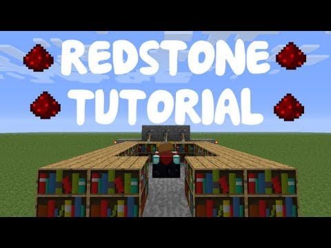 Minecraft 1.12: Redstone Tutorial - Compact Enchanting Room /w Sticky Pistons!
