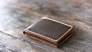 Leather BiFold Wallet for Men Handmade by JooJoobs
