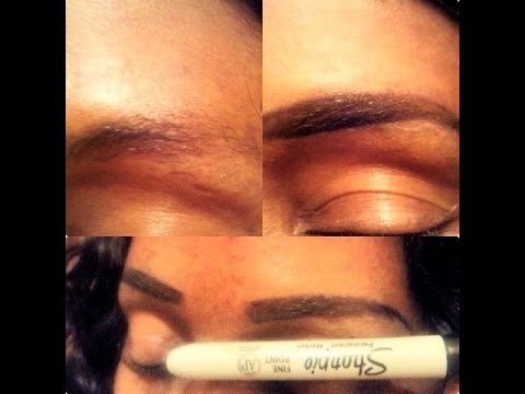Eye Brows Tutorial! Permanent Marker Edition!