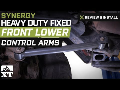 Jeep Wrangler Synergy Heavy Duty Fixed Front Lower Control Arms (2007-2017 JK) Review & Install